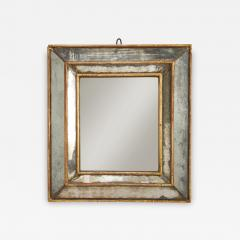 18th C Gold Leaf Mirrored Framed Mirror with Original Glass Lombardy Italy - 1051709