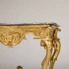 18th C Italian giltwood console table presenting a rich sculpted decoration - 1681082
