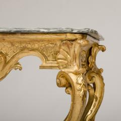 18th C Italian giltwood console table presenting a rich sculpted decoration - 1681083