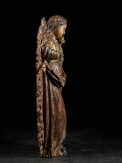 18th C Religious Spanish School Gilded Sculpture of the Virgin and Child - 2000347