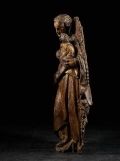 18th C Religious Spanish School Gilded Sculpture of the Virgin and Child - 2000349