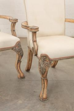 18th C Style Carved Italian Perugian Arm Chairs - 2009725