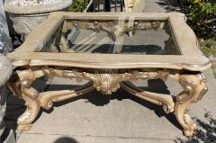 18th C Style Carved Italian Rococo Giltwood Coffee Cocktail Table - 2126544
