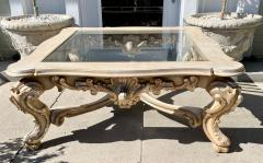 18th C Style Carved Italian Rococo Giltwood Coffee Cocktail Table - 2126547