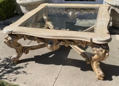 18th C Style Carved Italian Rococo Giltwood Coffee Cocktail Table - 2126548