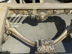 18th C Style Carved Italian Rococo Giltwood Coffee Cocktail Table - 2126595
