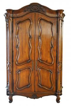 18th C Style Gregorius Pineo Italian Country Style Linen Press Armoire - 2057280