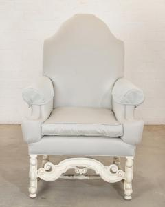 18th C Style Louis XIV Swedish Upholstered Arm Chair - 2142193