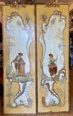 18th C Style Maria Apelo Cruz Venetian Painting Panels Verna Harrah Estate - 2076598