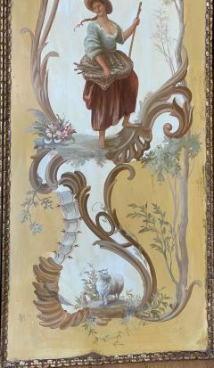 18th C Style Maria Apelo Cruz Venetian Painting Panels Verna Harrah Estate - 2076599