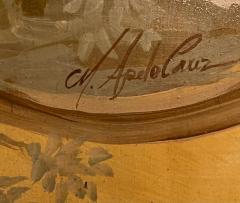 18th C Style Maria Apelo Cruz Venetian Painting Panels Verna Harrah Estate - 2076622