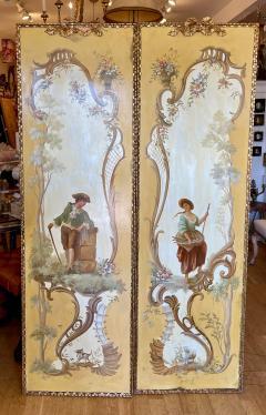 18th C Style Maria Apelo Cruz Venetian Painting Panels Verna Harrah Estate - 2076623