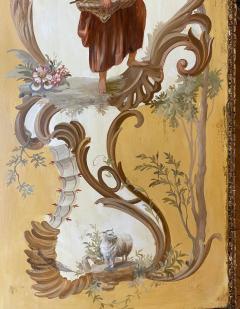 18th C Style Maria Apelo Cruz Venetian Painting Panels Verna Harrah Estate - 2076624