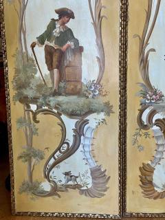 18th C Style Maria Apelo Cruz Venetian Painting Panels Verna Harrah Estate - 2076626