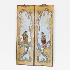 18th C Style Maria Apelo Cruz Venetian Painting Panels Verna Harrah Estate - 2077787