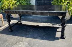 18th C Style Portuguese Ebonised Mahogany Writing Table Desk - 2067848