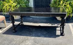 18th C Style Portuguese Ebonised Mahogany Writing Table Desk - 2067849