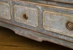 18th Century Baltic Painted Blue Chest of Drawers - 1251151