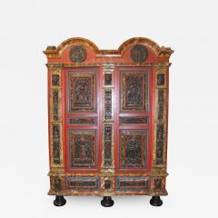 18th Century Danish Painted and Carved Baroque Armoire - 270197