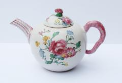 18th Century French Faience hand painter teapot  - 756519