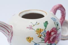 18th Century French Faience hand painter teapot  - 756521