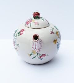 18th Century French Faience hand painter teapot  - 756522