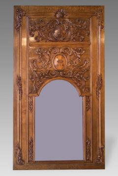 18th Century French Oak Trumeau Mirror From A Broisserie - 63516