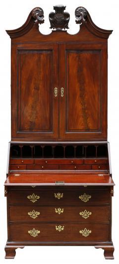 18th Century George II Mahogany Secretary Bookcase - 877658