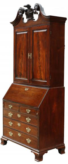 18th Century George II Mahogany Secretary Bookcase - 877659