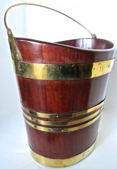 18th Century George III Brass Bound Oval Peat Bucket - 677480