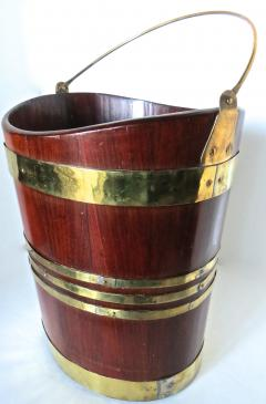 18th Century George III Brass Bound Oval Peat Bucket - 677481