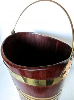 18th Century George III Brass Bound Oval Peat Bucket - 677483