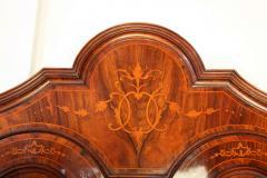 18th Century Italian Walnut Parquetry Important Bureau Cabinet Trumeaux - 1984856