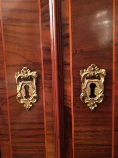 18th Century Italian Walnut Parquetry Important Bureau Cabinet Trumeaux - 1984858