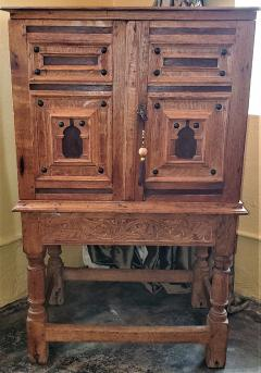 18th Century Mexican Texas Bargueno Style Chest on Stand Important - 1659832