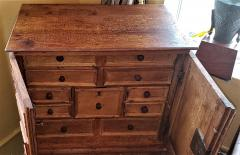 18th Century Mexican Texas Bargueno Style Chest on Stand Important - 1659844