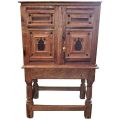 18th Century Mexican Texas Bargueno Style Chest on Stand Important - 1659845