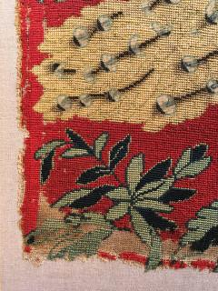 18th Century Needlework Picture with Peacock and Parrot - 947001