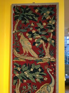18th Century Needlework Picture with Peacock and Parrot - 947002