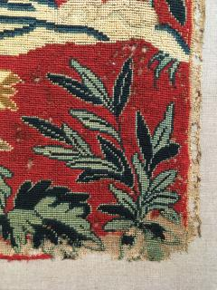 18th Century Needlework Picture with Peacock and Parrot - 947003