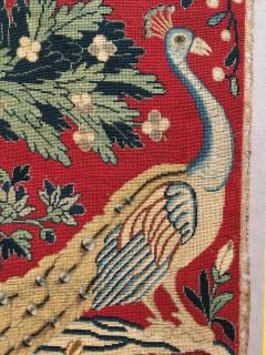 18th Century Needlework Picture with Peacock and Parrot - 947004
