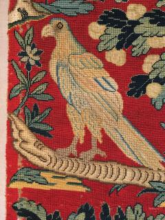 18th Century Needlework Picture with Peacock and Parrot - 947006