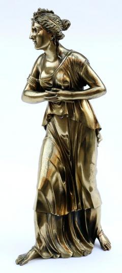 18th Century Neoclassical Bronze Dor Sculpture of a Woman - 1708343