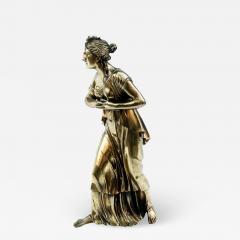 18th Century Neoclassical Bronze Dor Sculpture of a Woman - 1709493