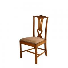 18th Century Provincial Walnut Side Chairs Set of 4 - 2139328