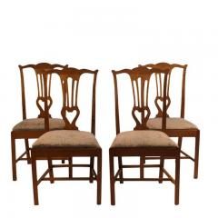 18th Century Provincial Walnut Side Chairs Set of 4 - 2139330