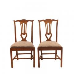 18th Century Provincial Walnut Side Chairs Set of 4 - 2139332