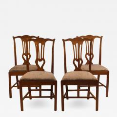 18th Century Provincial Walnut Side Chairs Set of 4 - 2139456