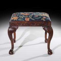 18th Century Queen Anne Walnut Needlepoint Claw Foot Stool - 962264