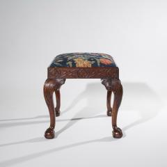 18th Century Queen Anne Walnut Needlepoint Claw Foot Stool - 962304